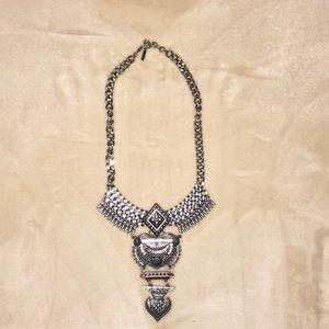Beautiful metal statement necklace.